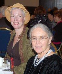 Edith and Julie at Crime Bake