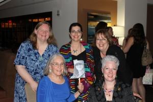 All the Wicked Cozy authors! Barbara Ross, Edith Maxwell, Jessie Crocket, Sherry Harris, Julie Hennrikus