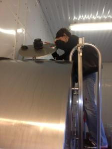 milking tank