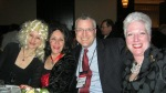 Liz, Edith, John Talbot, and Julie in costume at last year's banquet.