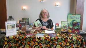 Edith Maxwell with her books