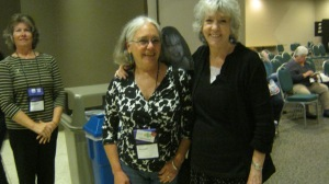 Sue Grafton with Sherry Harris