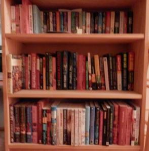 Dru Ann's bookshelf of signed books