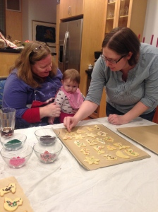 My granddaughter Viola and my daughter-in-law Sunny. Viola will be the 6th generation of my family (at least) to learn to make these cookies.