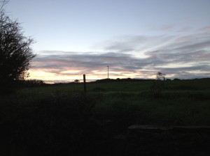 Dawn at Ballyriree 8:30 am