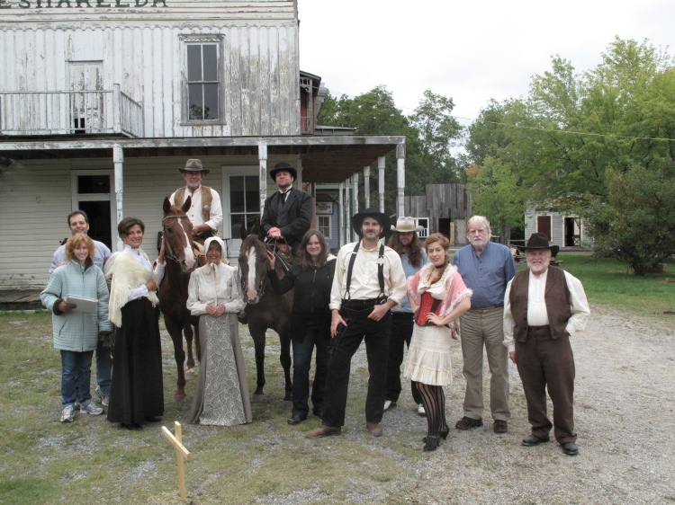 Kathryn with the cast and crew of Thurston.