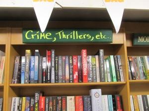 My books on an Irish shelf! (top right, if you look very hard)