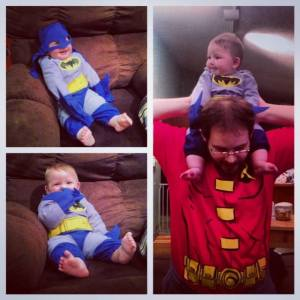 Last Halloween. My baby and his baby.