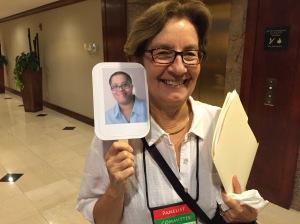 Roberta Islieb aka Lucy Burdette is so happy to see Dru Ann!