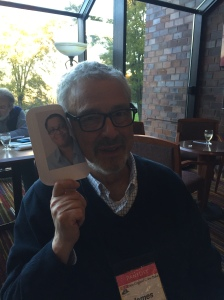 Dru Ann visits with author James Hayman.