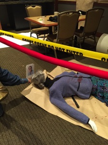 Dru Ann stops by to see the mock crime scene room and solves the case.
