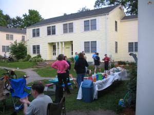 One of many parties held in the courtyard I lived on at Hanscom.