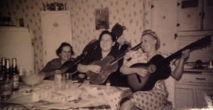 My great grandmother, my grandmother and Aunt Evelyn.