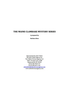 THE MAINE CLAMBAKE MYSTERY SERIES