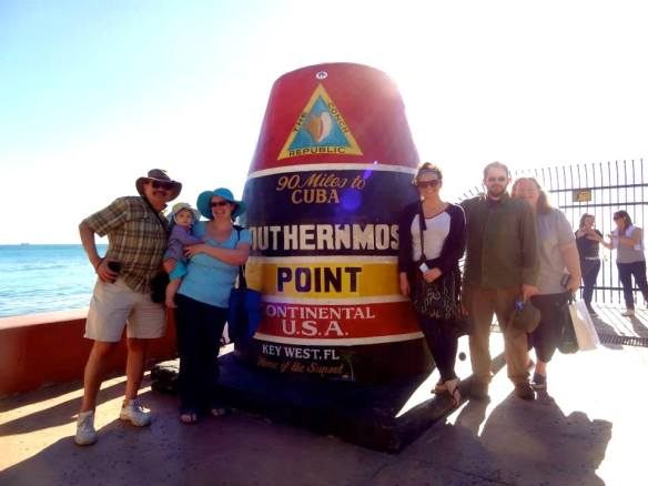 The family at Southernmost Point in 2014