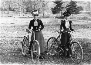 Two-women-on-safety-bicycles-2-ha-pennies