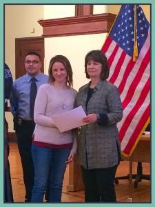 Getting my diploma from Chief Lisa Maruzo-Bolduc.