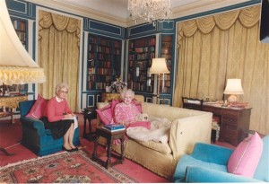 Barbara Cartland writing