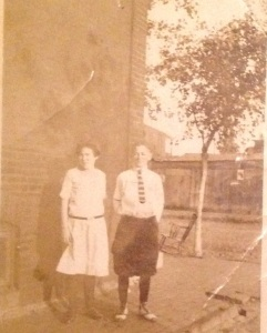 My grandmother and her brother in the early 1900's.