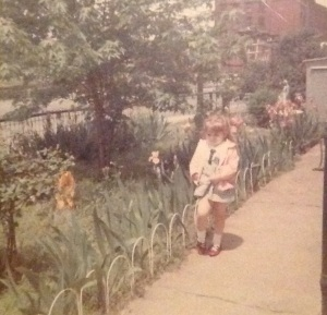 Me as a child in my garden.
