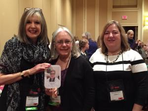 Hank, Edith and Susannah hang with Jacki at the New Author's Breakfast cheering Sherry on!