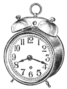 """Double-Bell Alarm Clock"" by Anonymous illustrator - Eaton's Spring and Summer Catalogue, 1917"