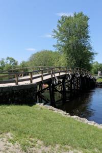 A replica of the original Old North Bridge