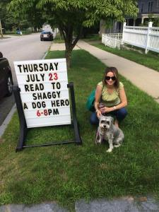 Shaggy the hero dog.