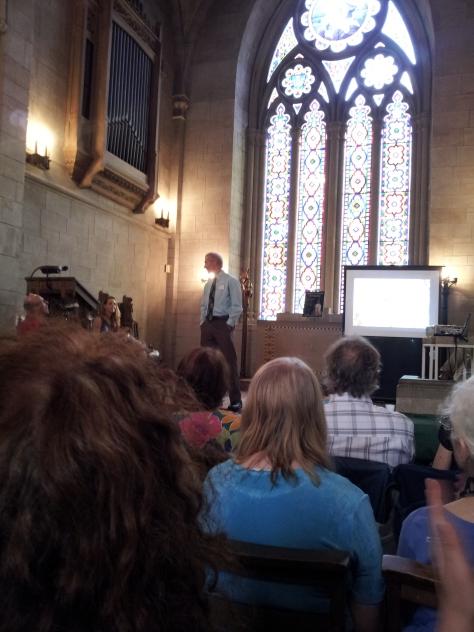 Mt. Auburn Prez Steve Barnett introduces the event.