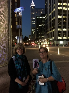 Walking the mean (okay really nice) streets of Raleigh and meet fan Karen Palmer.
