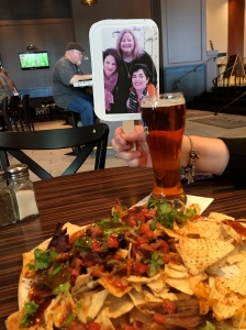 A beer and barbecue nachos hit the spot.