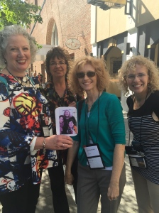 Happy to run into authors Julie Hennrikus, Leslie Budewitz, Kathryn O'Sullivan, and Nancy Herriman!