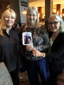 New England authors Kate Flora, Kathy Lee Emerson, and Edith.