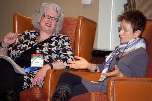 Julie Hennrikus/Julianne Holmes interviews Elizabeth George at the New England Crime Bake