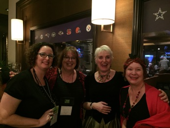 After the banquet with Lisa Alber, Catriona McPherson, and Cindy Brown.