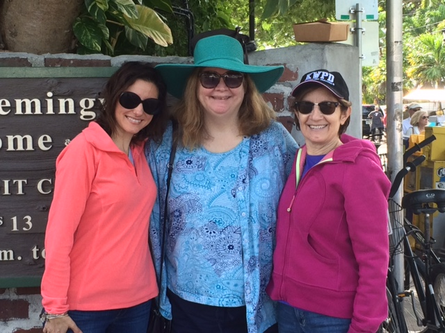 With our friend, author Lucy Burdette, at the Hemingway House. (Weren't Kim & Jessie in NH just talking about how wonderful Lucy is?)