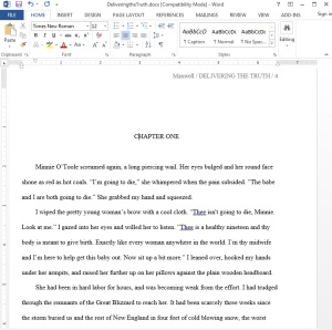First page