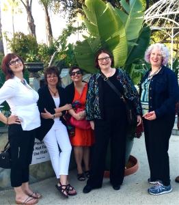 Nancy Parra aka Nancy Coco, Leslie Budewitz, Jessie, Sheila, and Julie