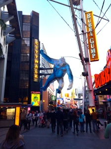 After a day of listening to Hollywood insiders, walking around the City Walk was fun.
