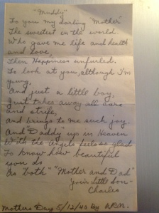 Letter from Uncle Al to Nana.