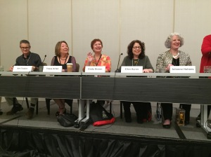 Julie on the Best First Novel panel.