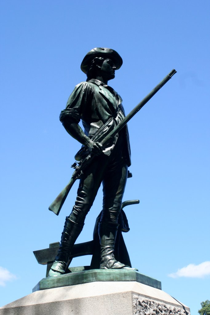 Minuteman_statue_2_-_Old_North_Bridge