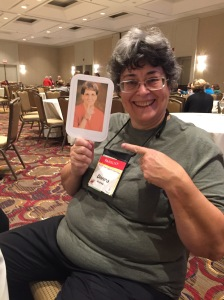 The first person Ginger meets is author Donna Andrews!