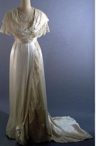An Edwardian wedding dress