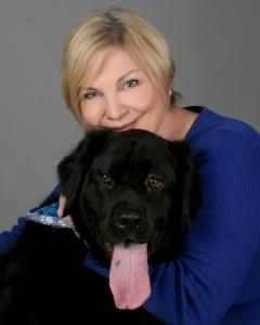 Paula and Bear bright blue