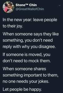 leave people to their joy