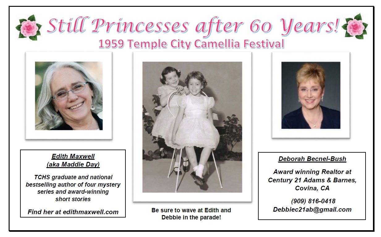 Pictures of Edith and Debbie as princesses and now in ad.